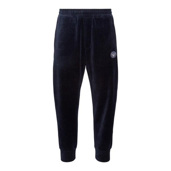 Blue velvet effect sports trousers                                                                                                                    Emporio Armani 6K1PA6 back