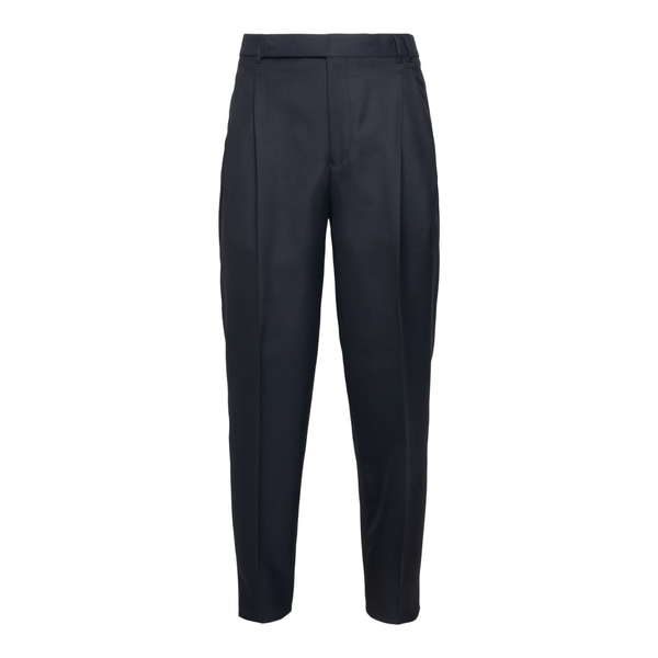 Pantaloni eleganti neri con piega                                                                                                                     Zegna 73NFN2 retro
