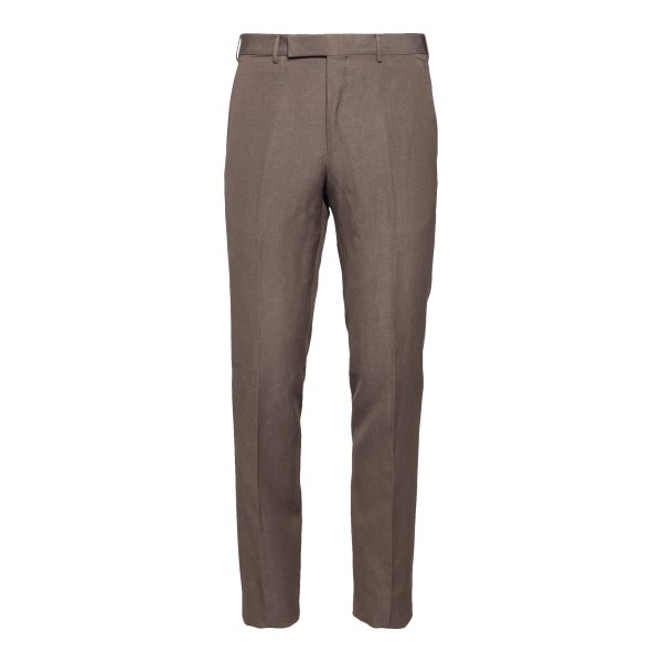 Brown trousers with crease                                                                                                                            Zegna 75TB12 back