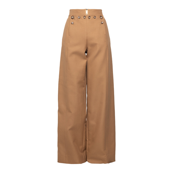 Flared sand trousers with buttons                                                                                                                     Burberry 8039054 back