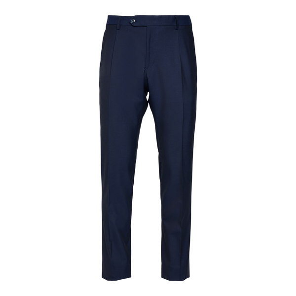 Blue elegant trousers with pleats                                                                                                                     Lubiam 8312 back