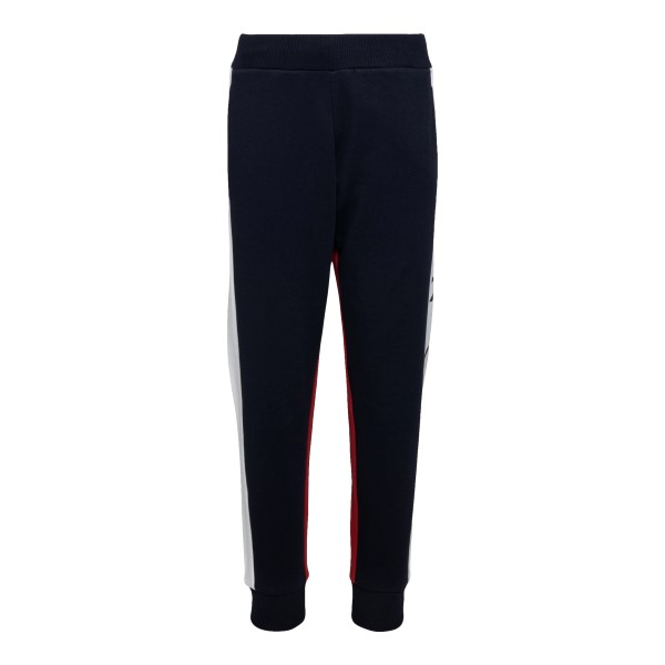 Blue and red trousers with logo patch                                                                                                                 Moncler 8H74120 back