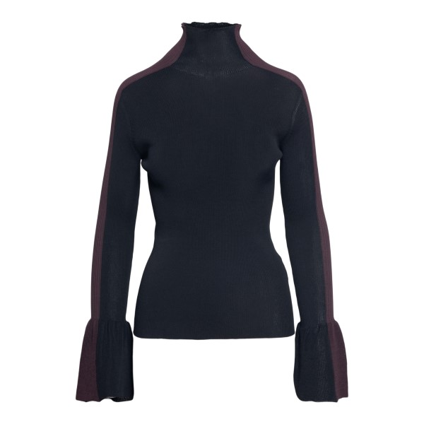 Black sweater with contrasting sides                                                                                                                  Moncler 1952 9F71300 front