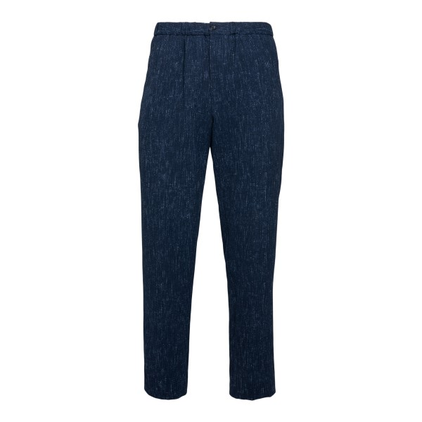 Blue trousers with pleats                                                                                                                             Emporio Armani A1P410 back