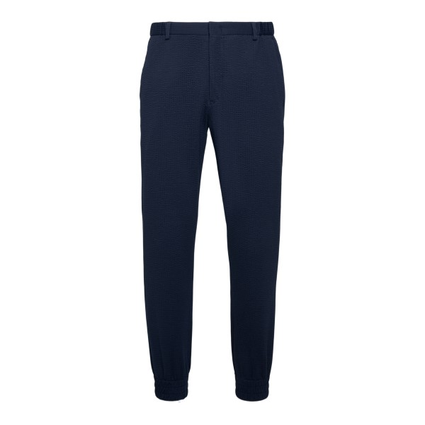Blue trousers with cuffs at the ankles                                                                                                                Emporio Armani A1P960 back