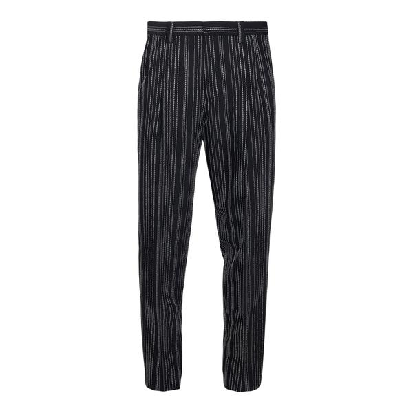 Pantaloni neri a righe                                                                                                                                Emporio Armani A1PWI0 retro