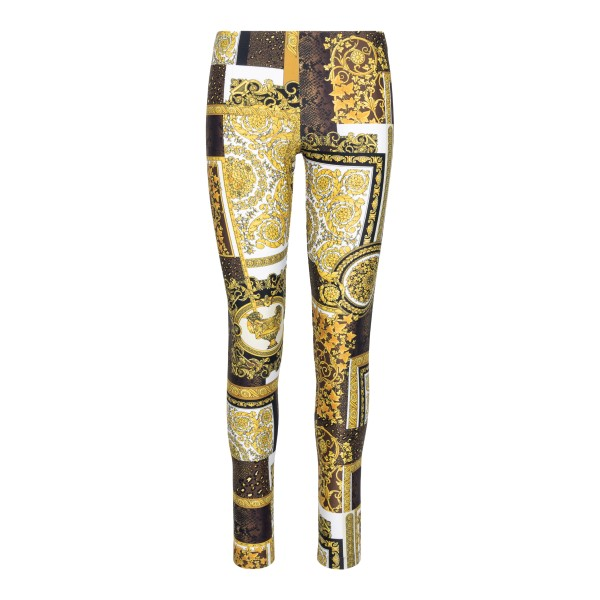 Multicolored leggings with print                                                                                                                      Versace A83807 back