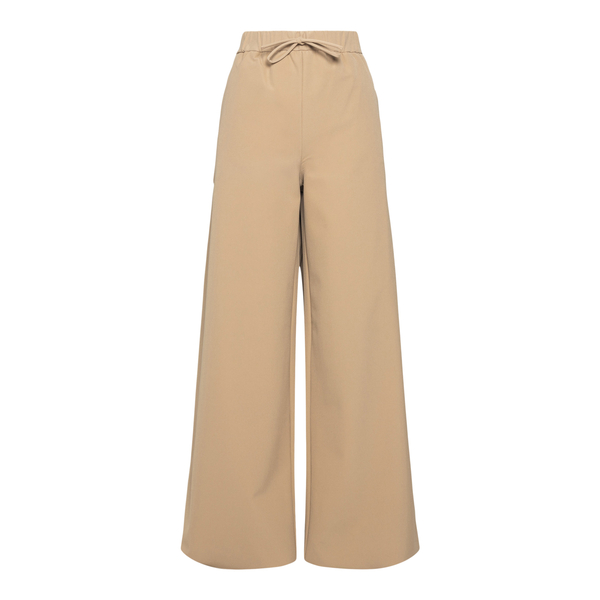 Wide sand trousers with side details                                                                                                                  Max Mara ACERBI back