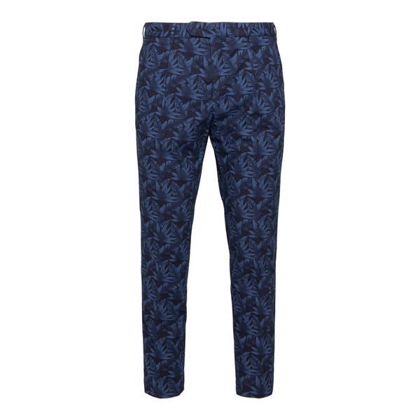 Blue trousers with graphic print                                                                                                                      Santaniello ARECHI back