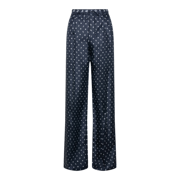 Blue trousers with paisley pattern                                                                                                                    Max Mara BELLO back
