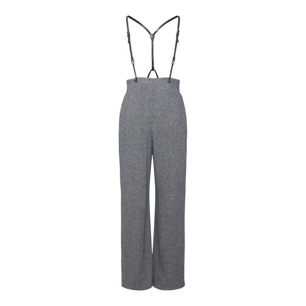 Pantaloni grigi ampi con bretelle                                                                                                                     Emporio Armani BNP27T retro