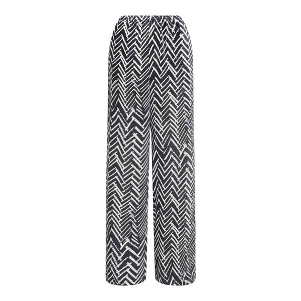 Pantaloni neri con motivo geometrico                                                                                                                  Emporio Armani BNP29T retro