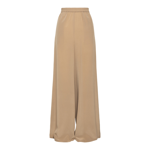 Wide sand-colored trousers with beads                                                                                                                 Max Mara BOHEME back