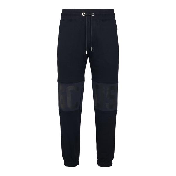 Pantaloni sportivi neri con logo a tono                                                                                                               Gcds CC94M031502 retro