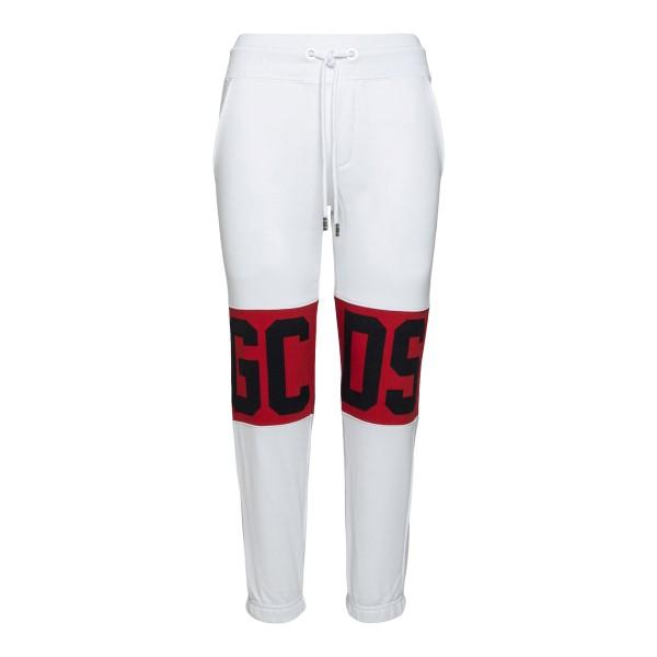 White sports trousers with logo                                                                                                                       Gcds CC94W031001 back
