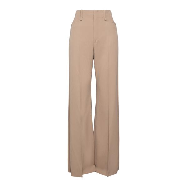 Flared beige trousers                                                                                                                                 Chloe' CHC21APA16 back
