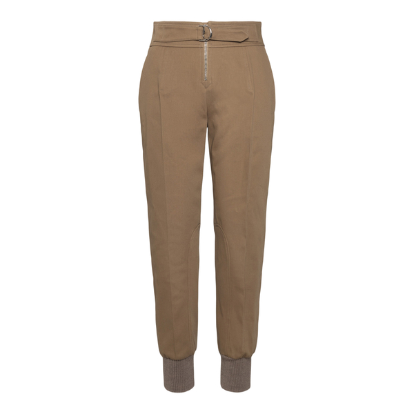 Beige trousers with belt                                                                                                                              Chloe' CHC21APA71 back