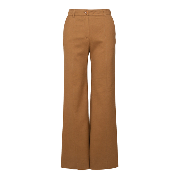 Pantaloni svasati in marrone chiaro                                                                                                                   See By Chloe CHS21WPA01 retro