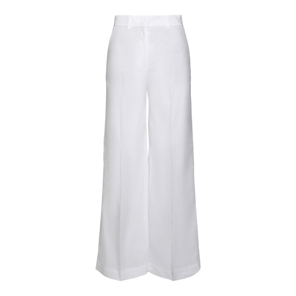White flared trousers with crease                                                                                                                     Department 5 DP076 back