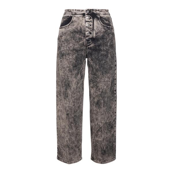 Jeans delavé grigi a vita alta                                                                                                                        Department 5 DP078 retro