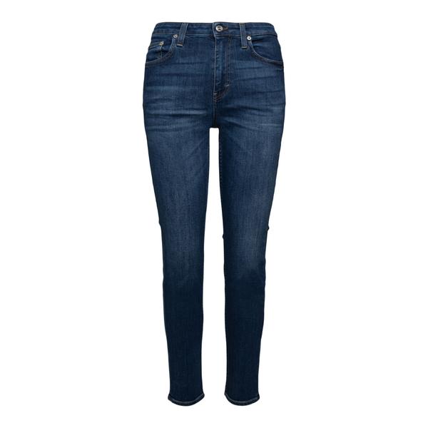 Jeans dritti blu con patch logo                                                                                                                       Department 5 DP57943 retro