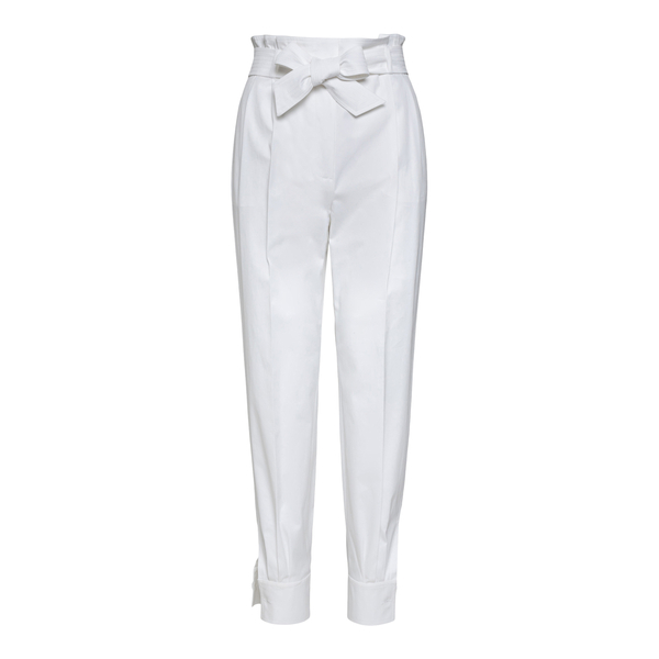White bow pants                                                                                                                                       Max Mara EBURNEA back