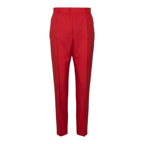 Straight red pants                                                                                                                                    Dolce&gabbana FTAM2T back