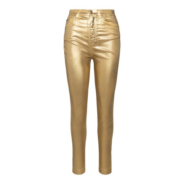 Metallic effect gold trousers                                                                                                                         Dolce&gabbana FTBXHD back
