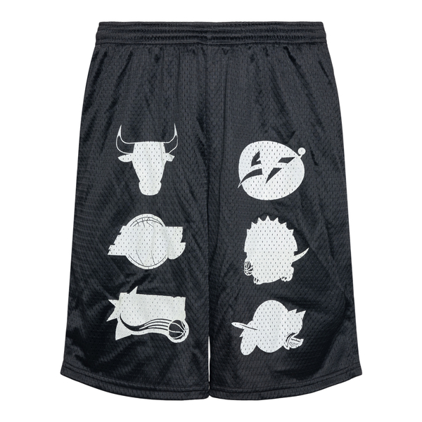 Pantaloncini neri con stampe                                                                                                                          Going Ghost In The Suburbs GGLLSB retro