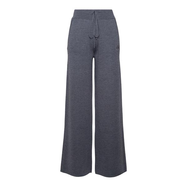 Pantaloni grigi a zampa con logo                                                                                                                      Max Mara GIOVE retro