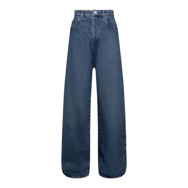 Jeans a gamba ampia blu                                                                                                                               Miu Miu GWP394 retro
