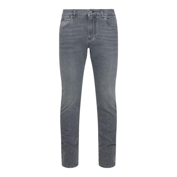 Skinny grey jeans with logo                                                                                                                           Dolce&gabbana GY07CD back