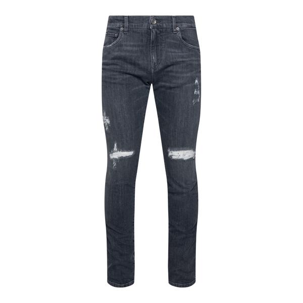 Jeans skinny grigio scuro con logo                                                                                                                    Dolce&gabbana GY07LD retro
