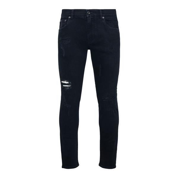 Jeans skinny neri a effetto vissuto                                                                                                                   Dolce&gabbana GYC4LD retro
