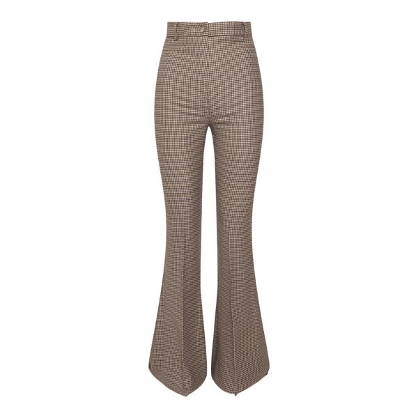 Pantalone flare a vita alta                                                                                                                           Hebe Studio H213_BIPN_PDP retro