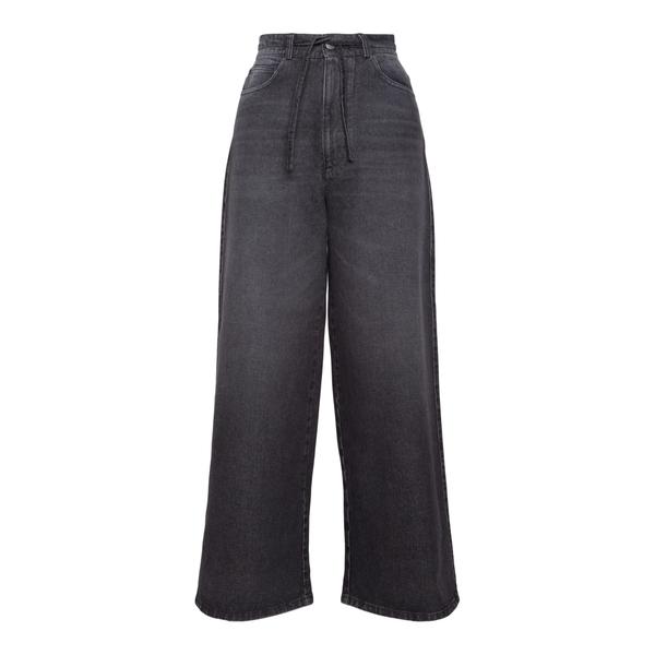 Jeans grigi svasati con coulisse                                                                                                                      Ami H21FD305 retro