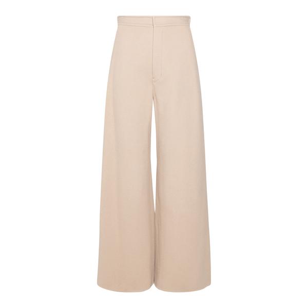 Pantaloni beige svasati                                                                                                                               Ami H21FT424 retro