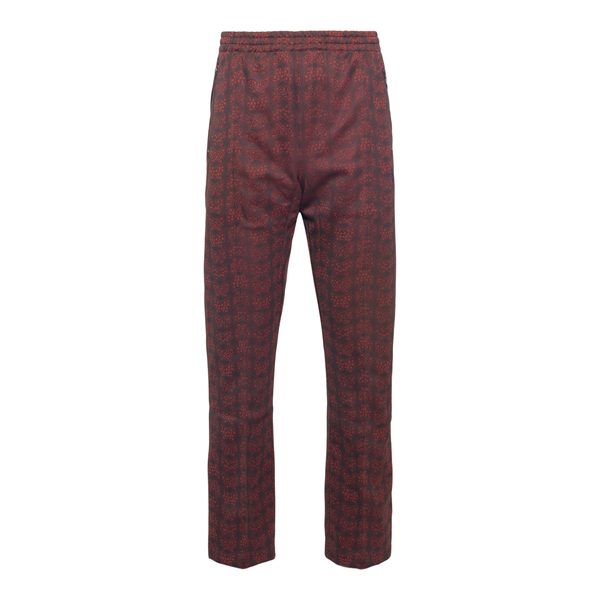 Patterned red sweatpants                                                                                                                              Needles JO220 back