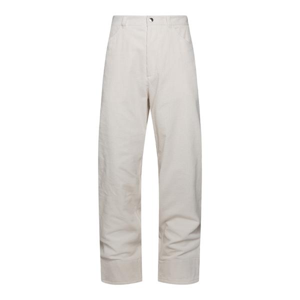 Pantaloni bianchi a costine                                                                                                                           Jil Sander JPUT311055 retro