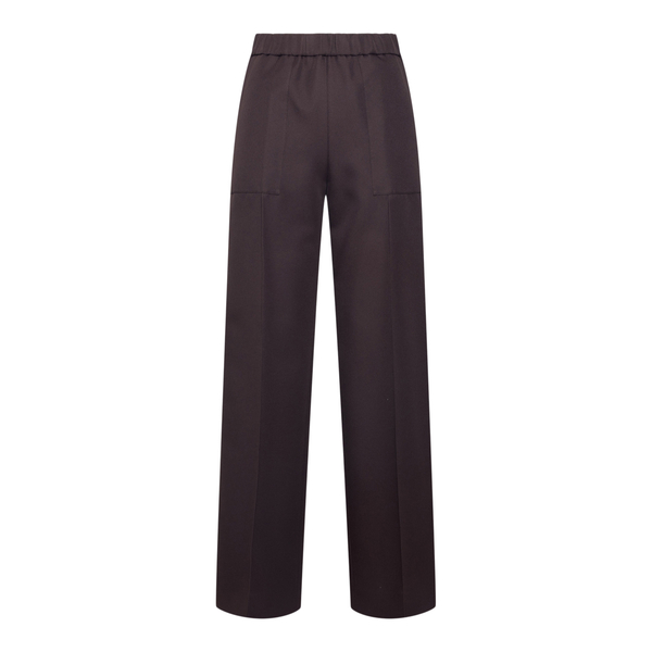 Straight brown trousers with crease                                                                                                                   Jil Sander JSPT311103 back