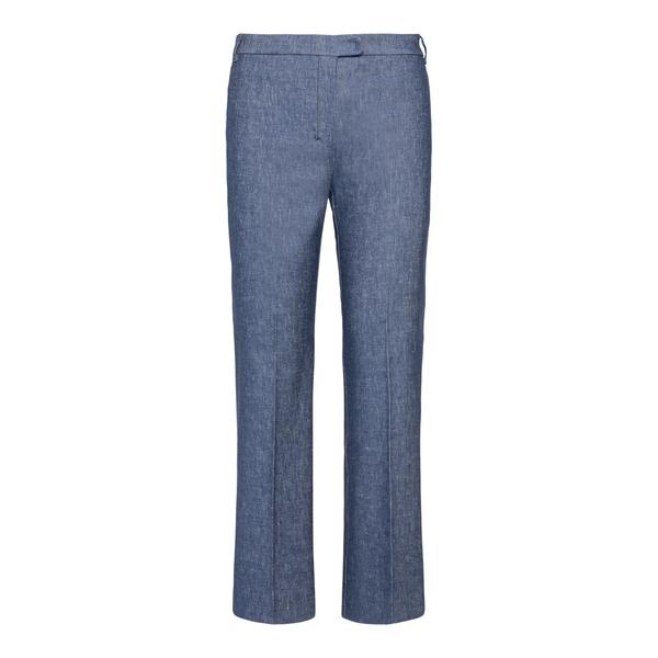 Denim blue elegant trousers                                                                                                                           Max Mara S KURT back