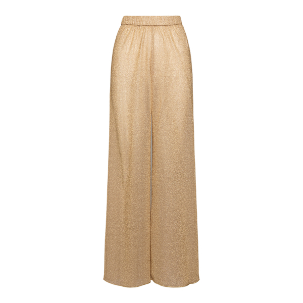 Pantaloni in lurex color oro                                                                                                                          Oseree Swimwear LPF202 fronte