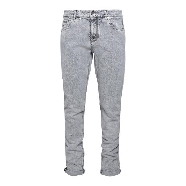 Light grey denim jeans                                                                                                                                Brunello Cucinelli MA095D2210 back