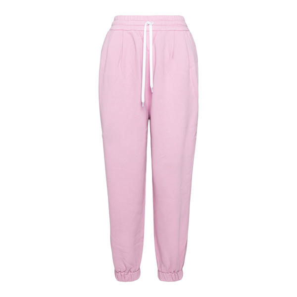 Pink track pants with logo                                                                                                                            Miu Miu MJP259 back