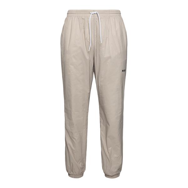 Pantaloni sportivi beige con logo                                                                                                                     Msgm MP07X retro