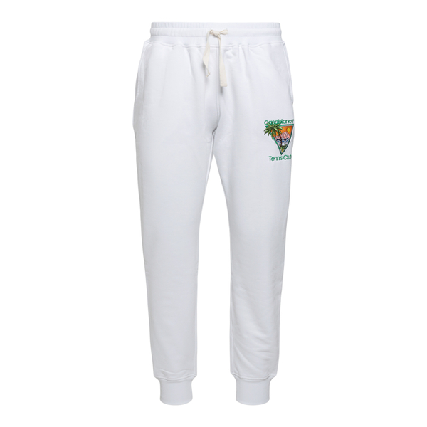 White sports pants with embroidery                                                                                                                    Casablanca MS21JTR007 back