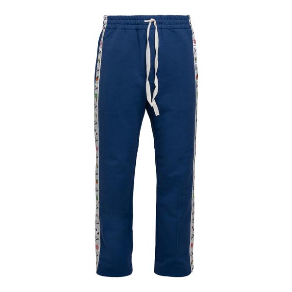 Blue track pants with side details                                                                                                                    Casablanca MS21JTR004 back