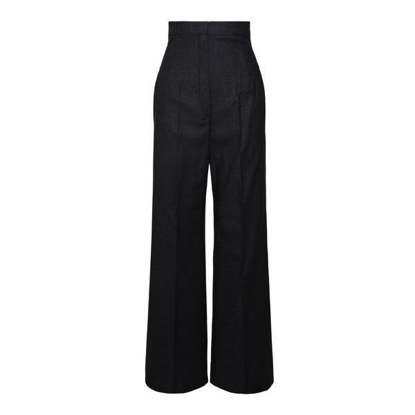 Pantaloni neri svasati a vita alta                                                                                                                    Sportmax OREL retro