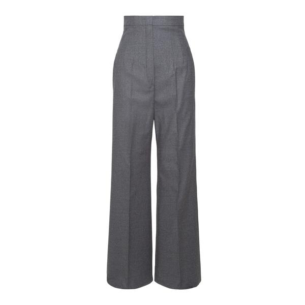 Pantaloni grigi svasati a vita alta                                                                                                                   Sportmax OREL retro