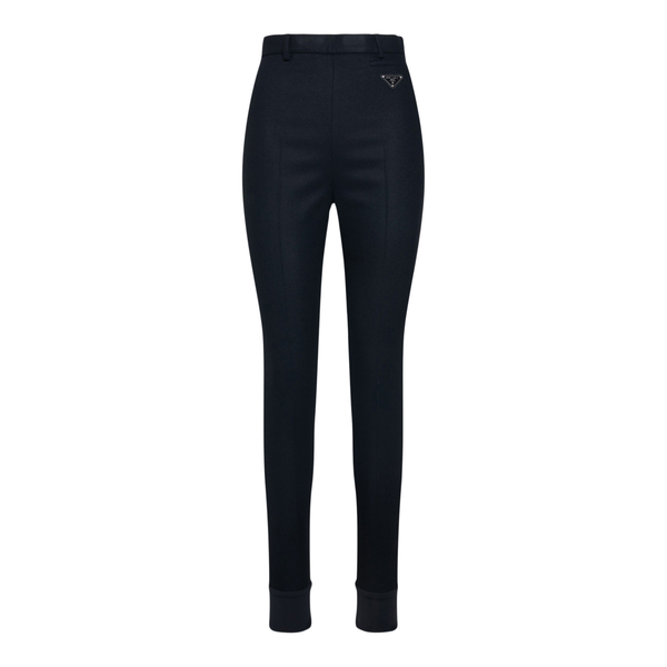 Black skinny pants with logo                                                                                                                          Prada P279E back